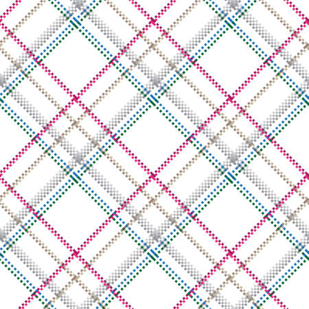Checkered classical pattern tartan. Pixel abstract seamless texture. Traditional color wallpaper in stripe. Scottish cage. Vector graphics printing on fabrics, shirts and textiles. Standard-Bild - 157159054