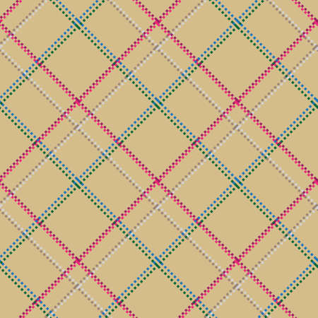 Checkered classical pattern tartan. Pixel abstract seamless texture. Traditional color wallpaper in stripe. Scottish cage. Vector graphics printing on fabrics, shirts and textiles. Standard-Bild - 157159056