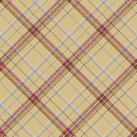 Checkered classical pattern tartan. Pixel abstract seamless texture. Traditional color wallpaper in stripe. Scottish cage. Vector graphics printing on fabrics, shirts and textiles. Standard-Bild - 157159073