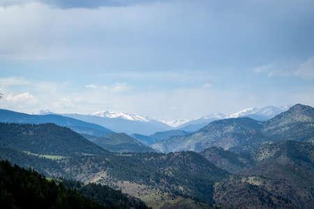 Colorado Mountains On a Cloudy day