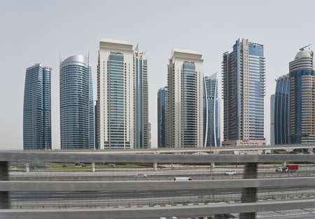 Streets, roads and buildings in Dubai photo