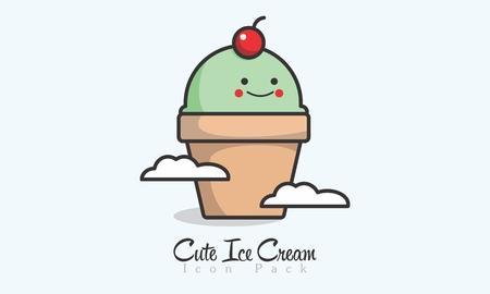 Cute Ice Cream Icon