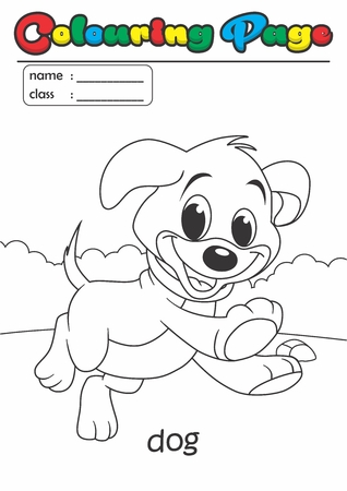 Colouring Page Colouring Book. Grade easy suitable for kids Illustration