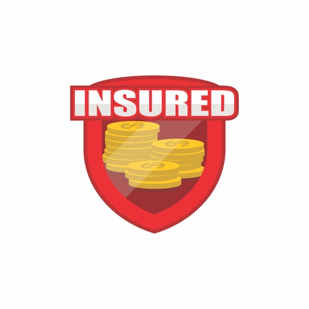 Insured logo, icon, badge, shield for insurance Stock Vector - 88617123