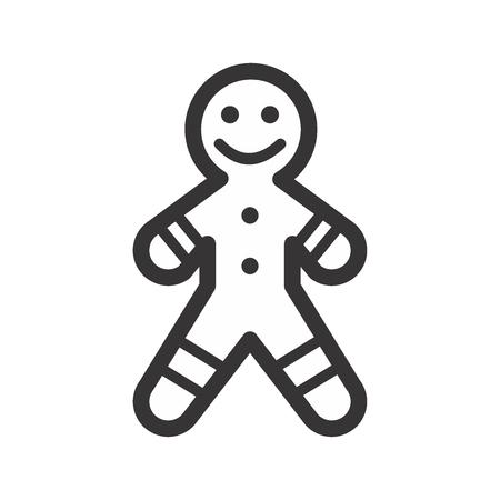 gingerbread Christmas Vector Icon