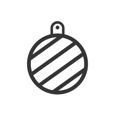 Christmas Vector Icon balls Illustration