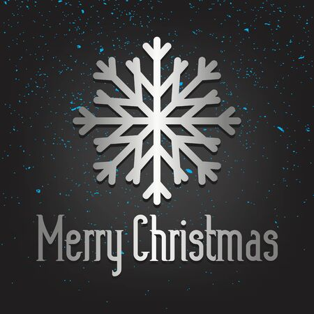 Merry Christmas Silver Lettering Greeting Card Set