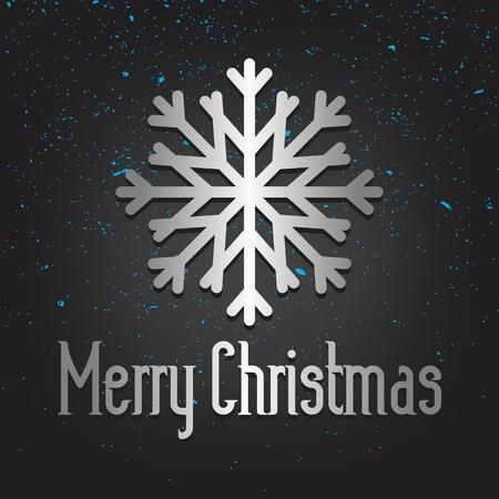Elegant Christmas greeting card in black background. Иллюстрация
