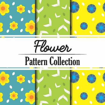 Flower Pattern Collection Иллюстрация