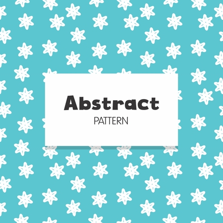 Abstract Background Star Flower Repeat
