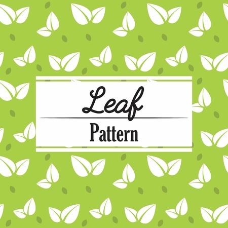Leaf Pattern Repeat Ornament decoration background