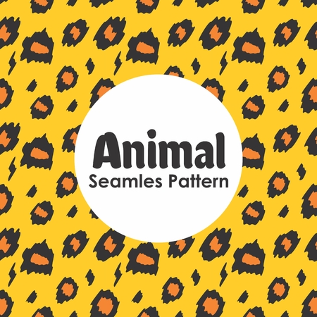 Animal Seamless Pattern Background Vector Banque d'images - 103117326