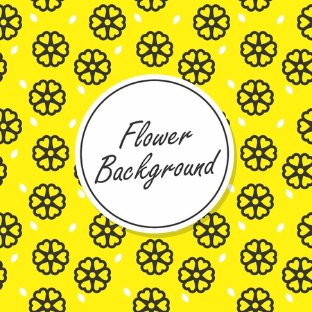 Flower seamless pattern vector art