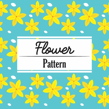 Flower Pattern Repeat Ornament decoration background