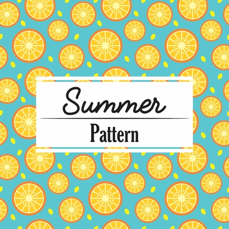 Summer Pattern Repeat Ornament decoration background