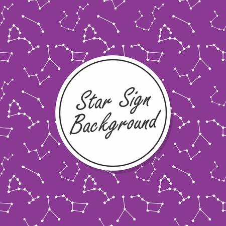 Star Sign seamless pattern vector art