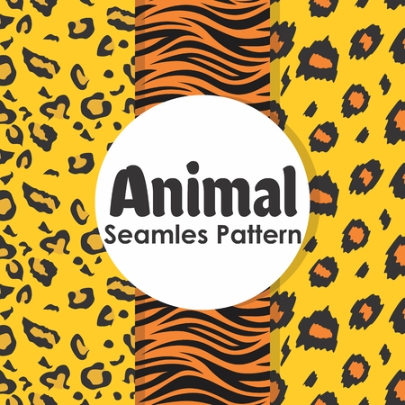 Animal Seamless Pattern Background Vector Collection Banque d'images - 103117330