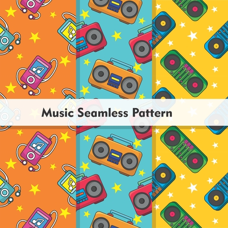 Colorful Music Seamless Pattern Repeat
