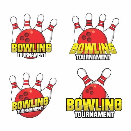 Bowling Tournament Logo Collection