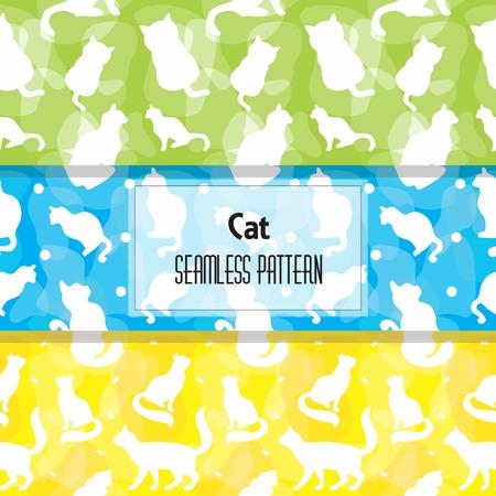 Cat Seamless pattern Иллюстрация