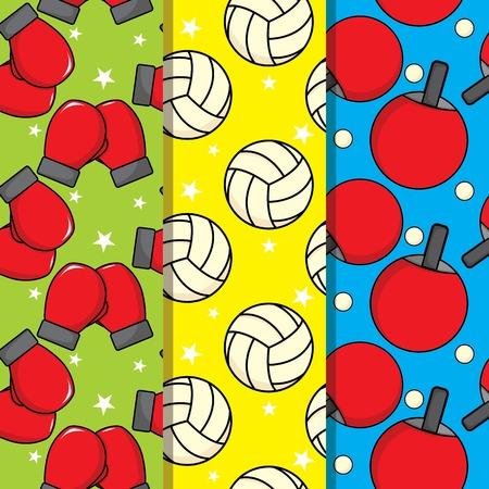 Sport Colorful Seamless Pattern