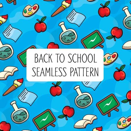 Back to School Colorful Seamless Pattern Фото со стока - 106744205
