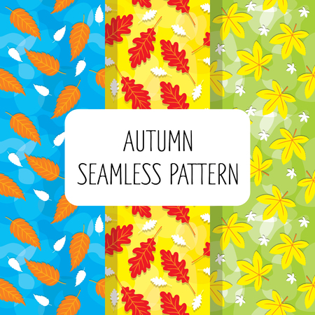 Autumn Leaf Colorful Seamless Pattern