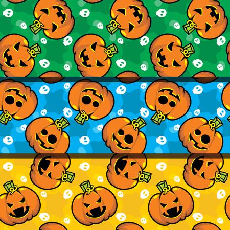 Colorful Halloween Seamless Pattern repeated Иллюстрация