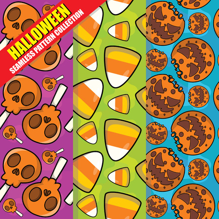 Halloween Seamless Pattern Collection