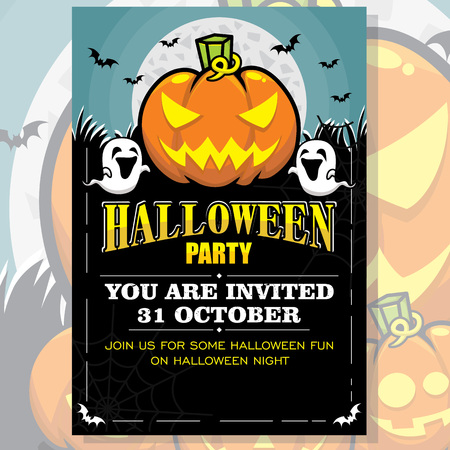 Halloween Party Invitation Poster
