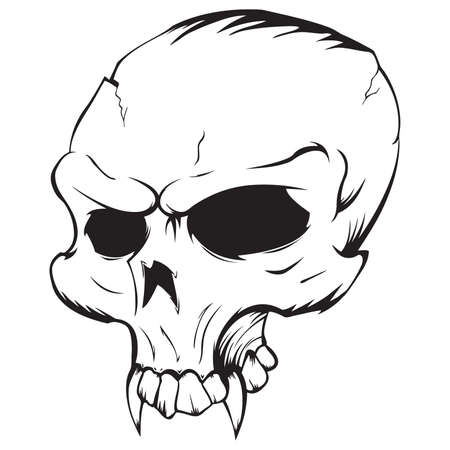 Vector illustration of a vampire Skull Vettoriali