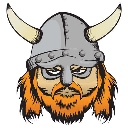 warriors: Vector illustration of a nordic warior Illustration