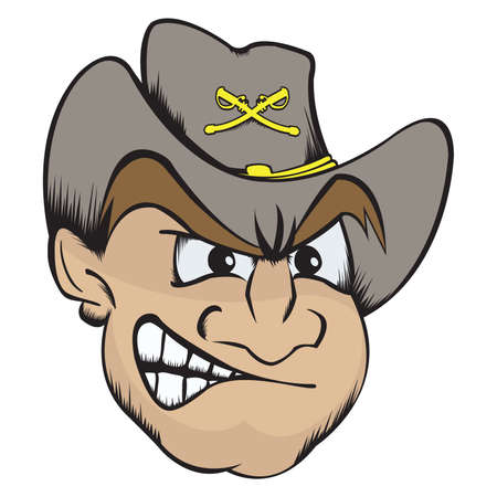 solider: Vector illustration of a rebel mascot