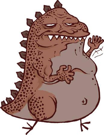 com escamas: Godzilla dos desenhos animados