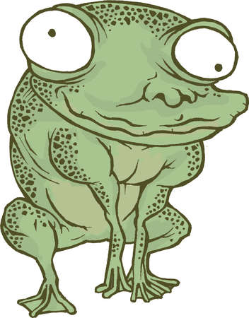 croaking: Frog Cartoon