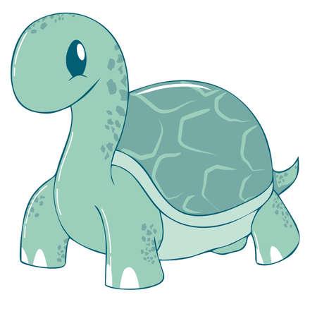 green turtle: Carino Green Turtle Cartoon