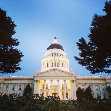 california flag: Sacramento California capital building