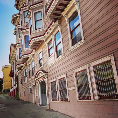 grill: San Francisco residential area  Stock Photo