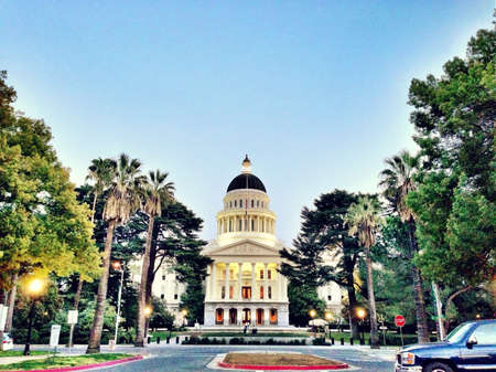 downtown: Sacramento state Capitol building