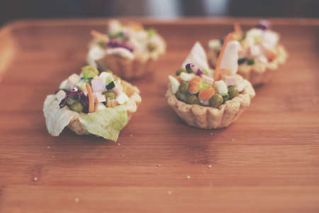 Salad cups for appetizers Stock fotó