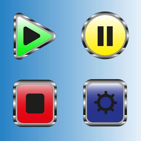 色とりどりのベクトル図のボタンをクリックします。