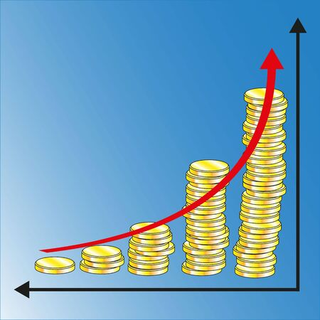 improving peoples financial well-being enhanced financial growth vector illustration