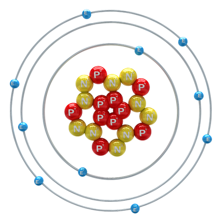 PROTON: Neon atom on a white background