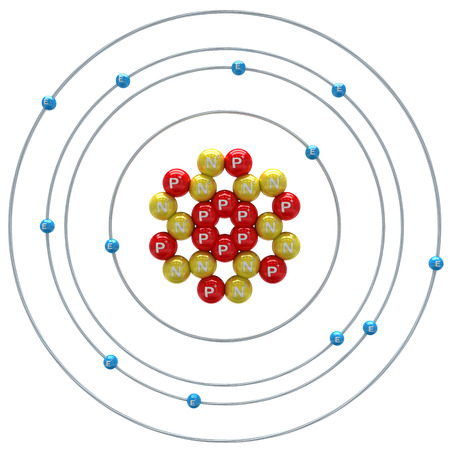 magnesium: Magnesium atom on a white background