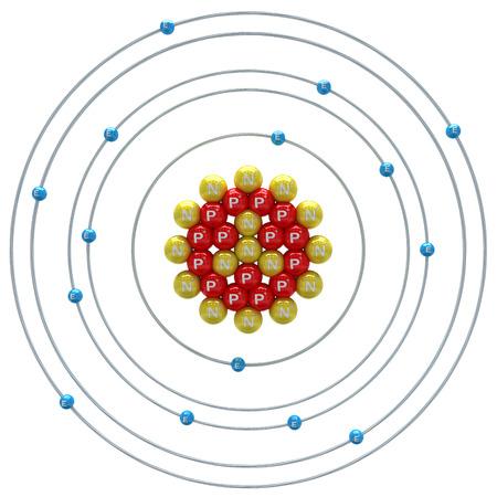white phosphorus: Phosphorus atom on a white background