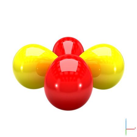 orbital: Shape of the 3d atomic orbital on white background