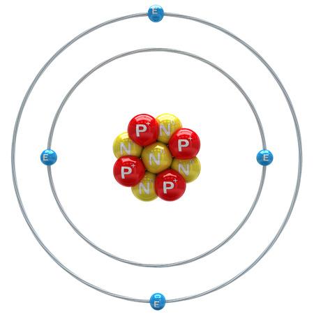 Beryllium Atom auf einem weißen Hintergrund Standard-Bild - 24660158