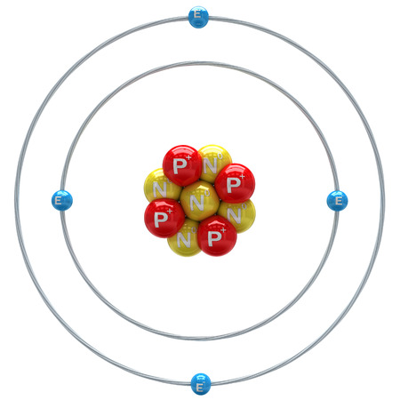PROTON: Beryllium atom on a white background