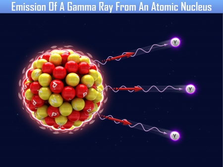 Emission Of A Gamma Ray From An Atomic Nucleus Stock Photo - 24660311