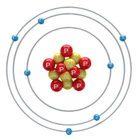 3d nitrogen: Nitrogen atom on white background